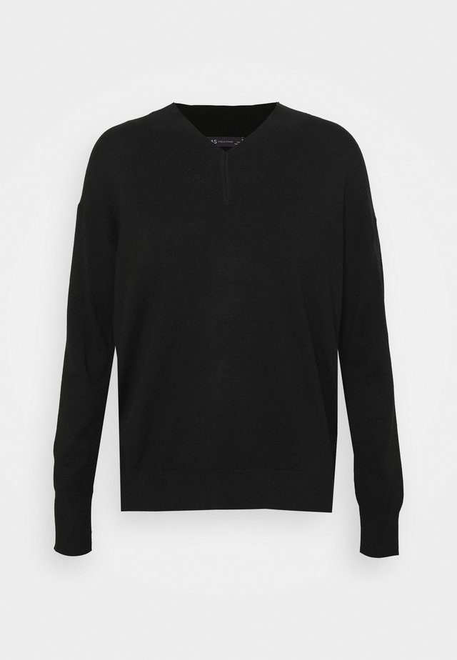HIGH VEE - Pullover - black