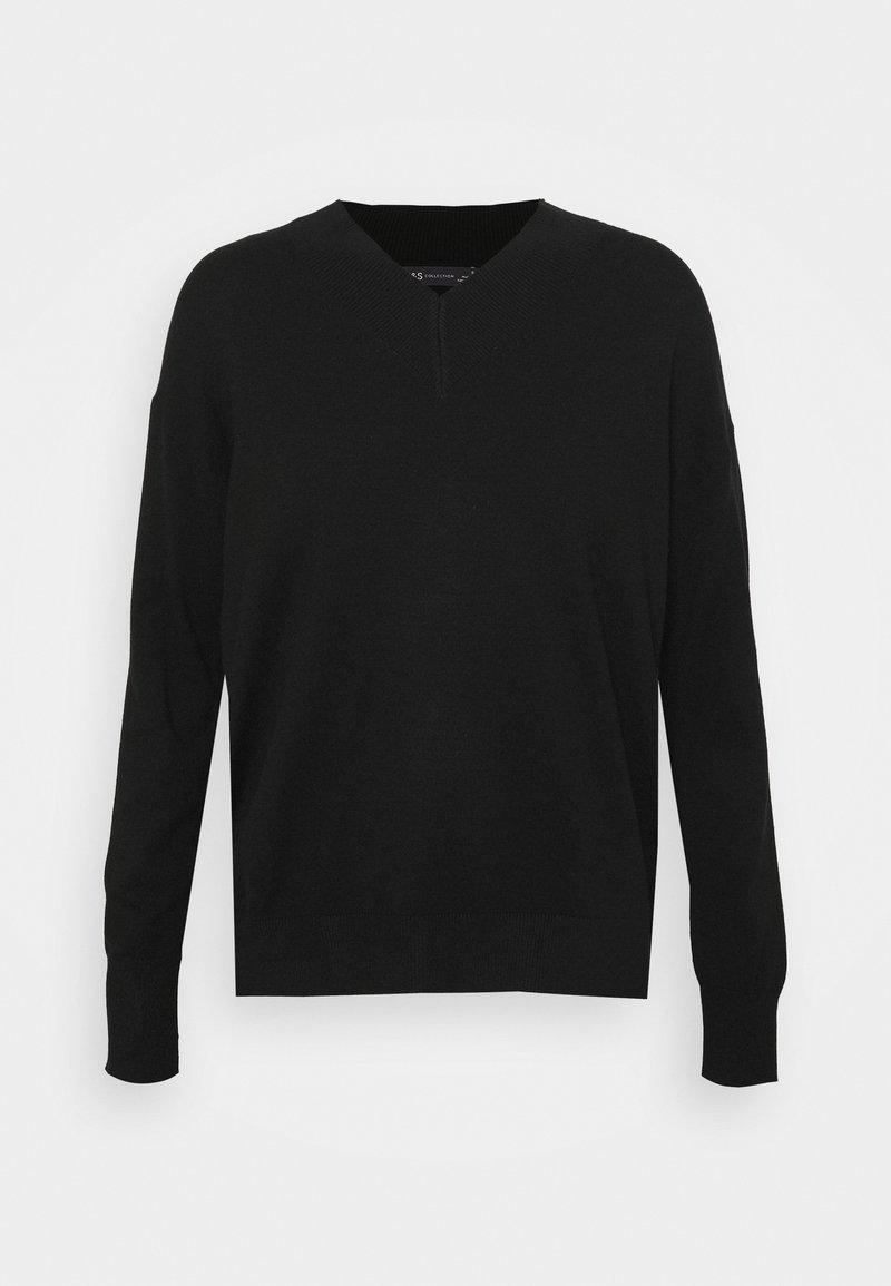 Marks & Spencer London - HIGH VEE - Sweter - black