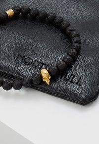 Northskull - SKULL BRACELET - Bracciale - black/gold-coloured - 5