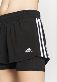 adidas Performance - PACER 2 IN 1 - Pantalón corto de deporte - black/white - 4