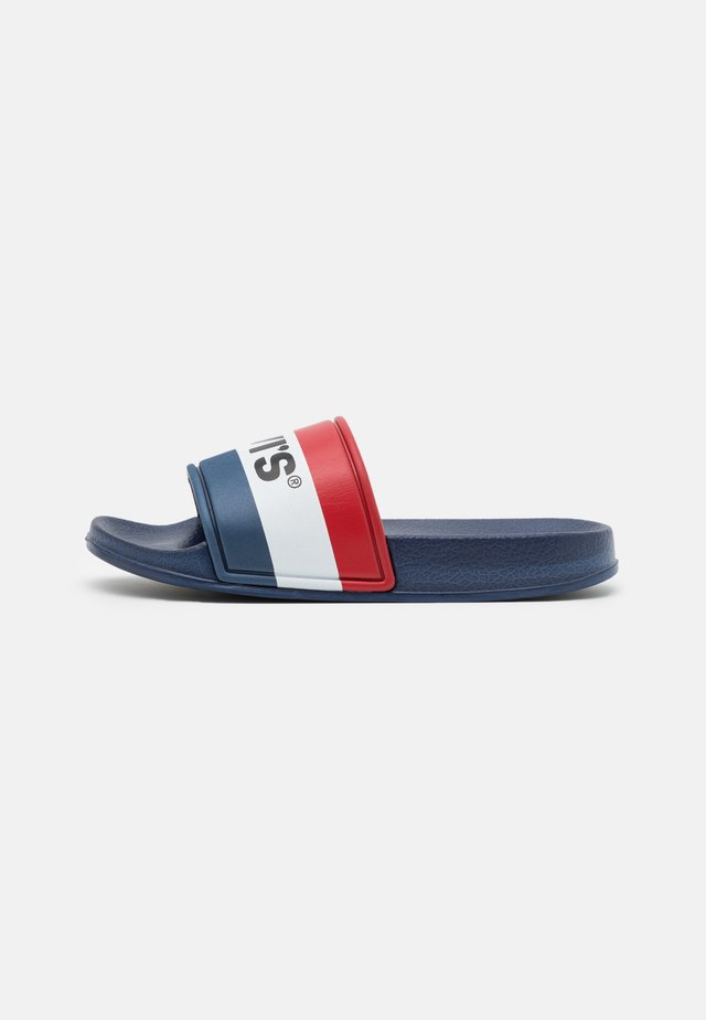 POOL UNISEX - Mules - navy/red