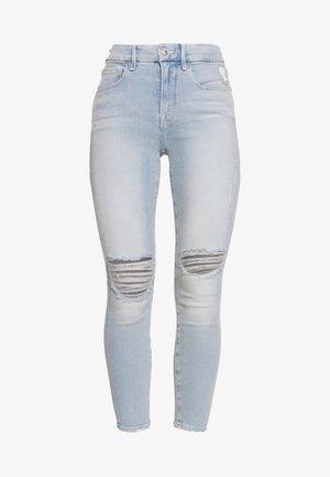 GOOD LEGS CROP - Vaqueros pitillo - blue