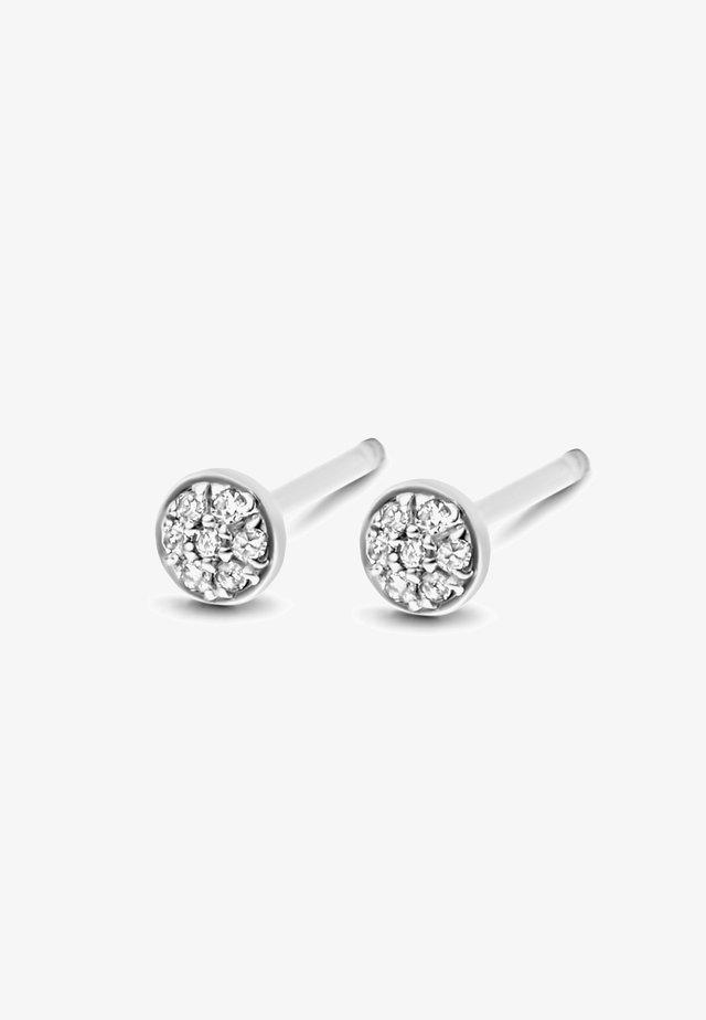 FIRST DIAMOND EARRINGS - Boucles d'oreilles - white rhodium silver