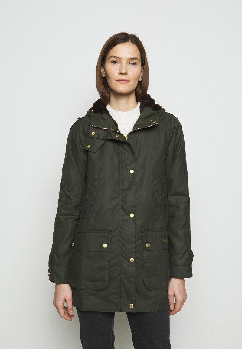 Barbour - AUSTEN WAX - Light jacket - dark green