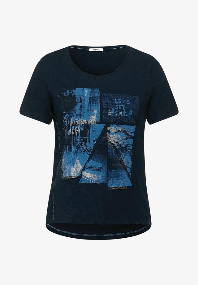 MIT FOTOPRINT - T-shirt med print - blau