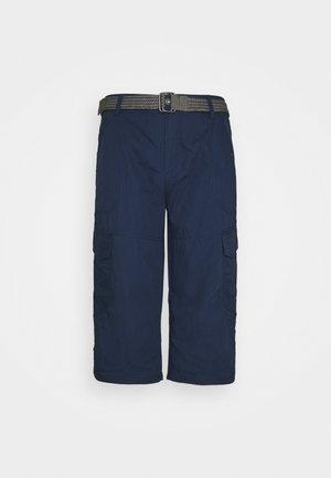 LONG CARGO WITH BELT - Shorts - navy