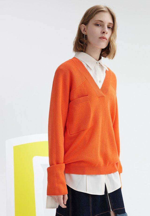 Jersey de punto - fluorescein orange