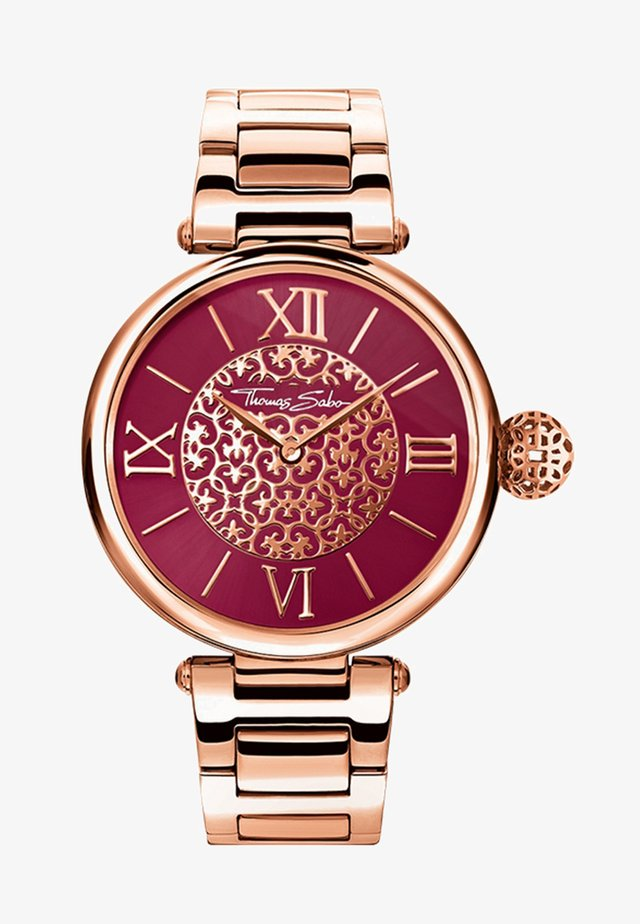 Watch - rosegold-coloured/red