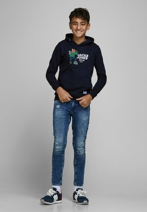 SWEATSHIRT JUNGS STATEMENT-PRINT - Sweat à capuche - navy blazer