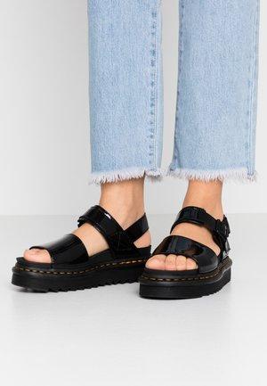 VOSS - Sandály na platformě - black