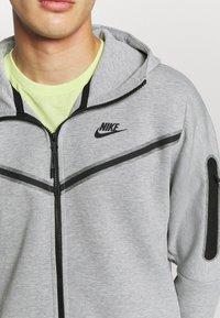 Nike Sportswear - Felpa con zip - dk grey heather/black - 5