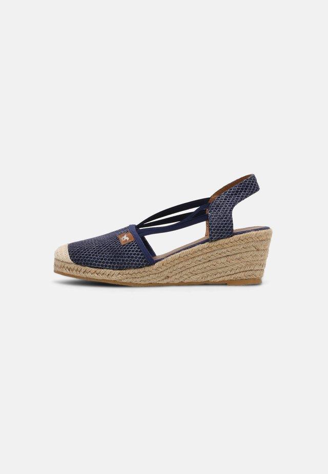 Sandalen met sleehak - blau