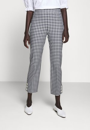 GEORGIE PANT IN GINGHAM WITH BUTTONS - Stoffhose - navy/ivory