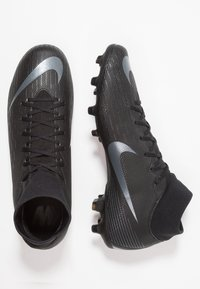 Nike Performance - MERCURIAL 6 ACADEMY MG - Moulded stud football boots - black/anthracite/light crimson - 1