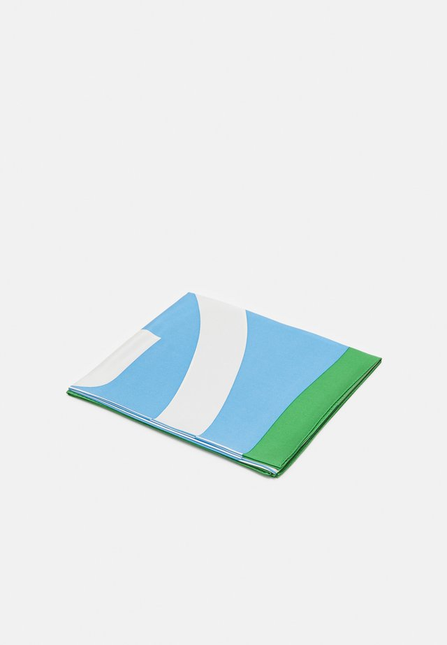 COLOR BLOCK LOGO SQUARE  - Šátek - blue wallpaper