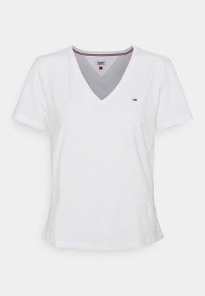 SOFT V NECK TEE - T-shirt basic - white