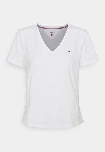 SOFT V NECK TEE - Jednoduché triko - white