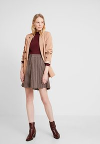 edc by Esprit - A LINE SKIRT - Mini skirt - khaki green - 2