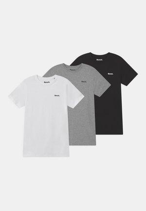 POPULAR 3 PACK - T-paita - black/white/grey