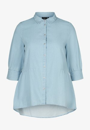 WITH 3/4 LENGTH SLEEVES - Button-down blouse - light blue