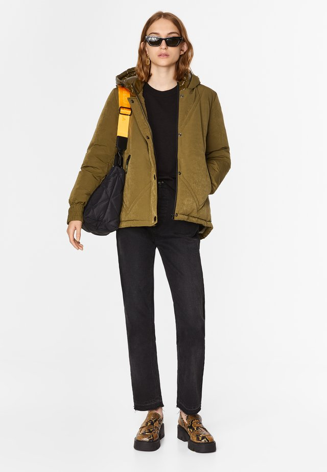 Gewatteerde jas - khaki