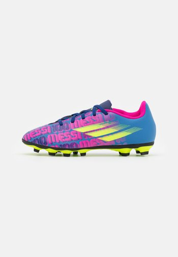 X SPEEDFLOW MESSI.4 FXG UNISEX - Moulded stud football boots - victory blue/shock pink/solar yellow