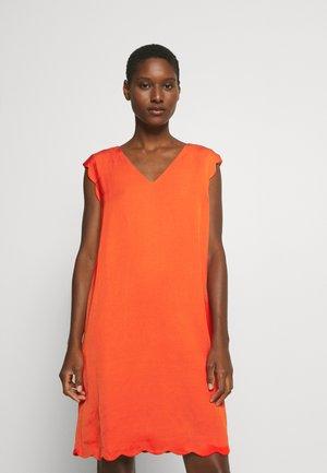 MIX - Denní šaty - red orange