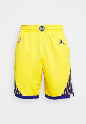 NBA STATE WARRIORS SWINGMAN SHORT - Träningsshorts - amarillo/white/rush blue