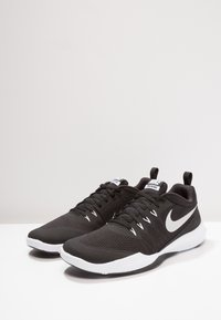 Nike Performance - LEGEND TRAINER - Sports shoes - black/metallic silver/white - 1