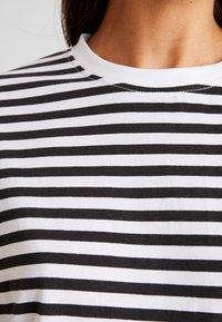 Missguided - STRIPE DROP SHOULDER LONG SLEEVE - Topper langermet - white/black - 4