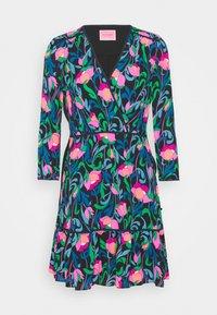 kate spade new york - FLORAL SWIRL DRESS - Day dress - black - 0