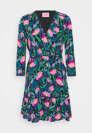 FLORAL SWIRL DRESS - Day dress - black