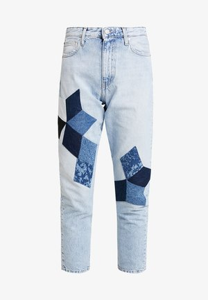 HIGH RISE SLIM CROP - Jeansy Relaxed Fit - cold quilt