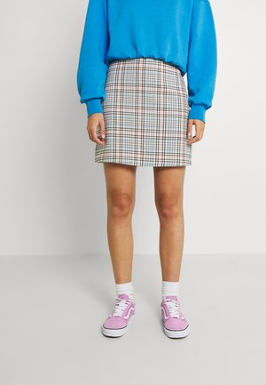 Mini skirt - white dusty light