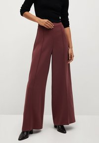 Mango - ELODY - Trousers - wine - 0