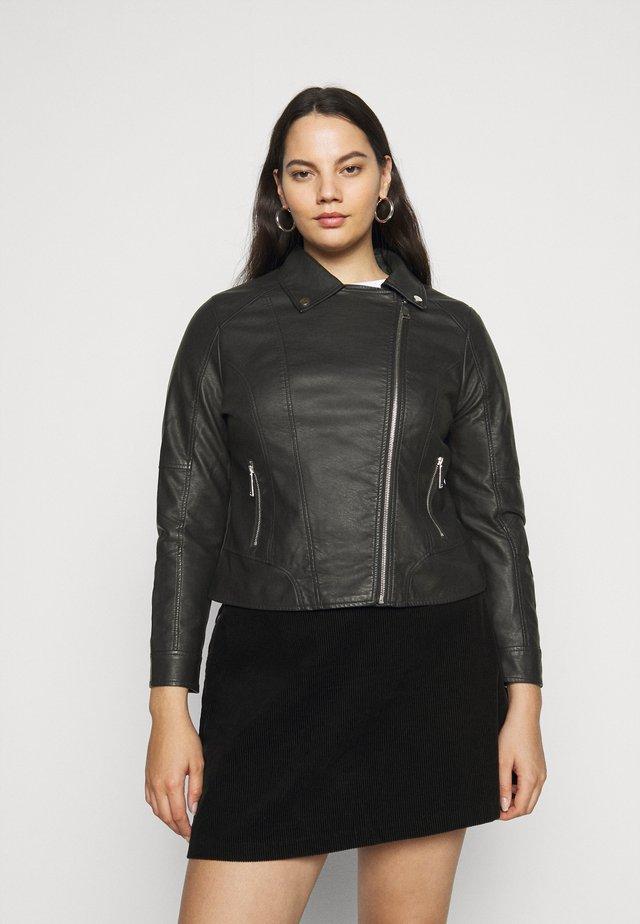 BIKER JACKET - Leather jacket - black