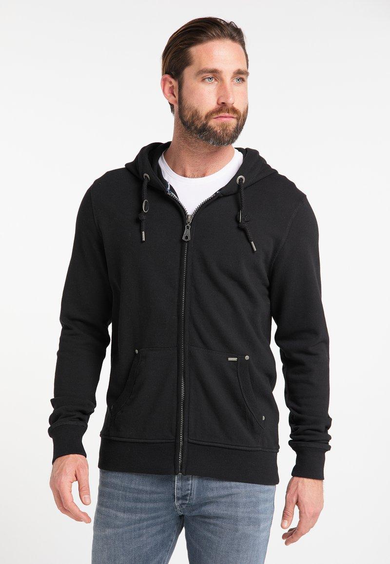 DreiMaster - Mikina na zip - black