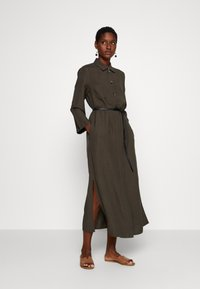 s.Oliver BLACK LABEL - Maxi dress - dark khaki green - 0