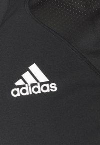 adidas Performance - CLUB TEE - T-shirt imprimé - black/white - 2