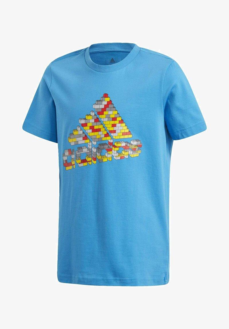 adidas Performance - LEGO 2 GRAPHIC - Print T-shirt - blue
