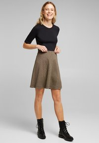 Esprit - FLARED  - A-line skirt - camel - 1
