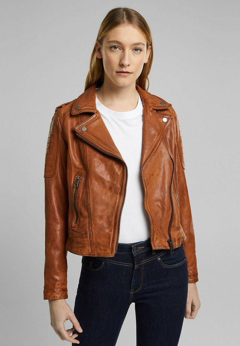 Esprit - Leather jacket - toffee