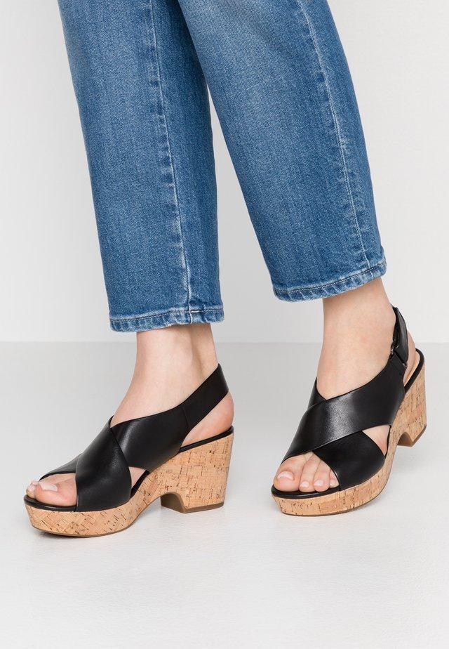 MARITSA LARA - Korkeakorkoiset sandaalit - black