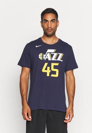 NBA DONOVAN MITCHELL UTAH JAZZ NAME & NUMBER TEE - Club wear - college navy/mitchell donovn