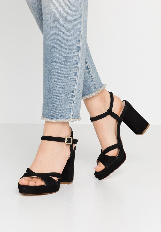 ANALA - High heeled sandals - black