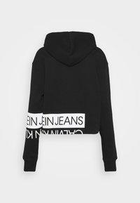 Calvin Klein Jeans - Hoodie - black/bright white - 8