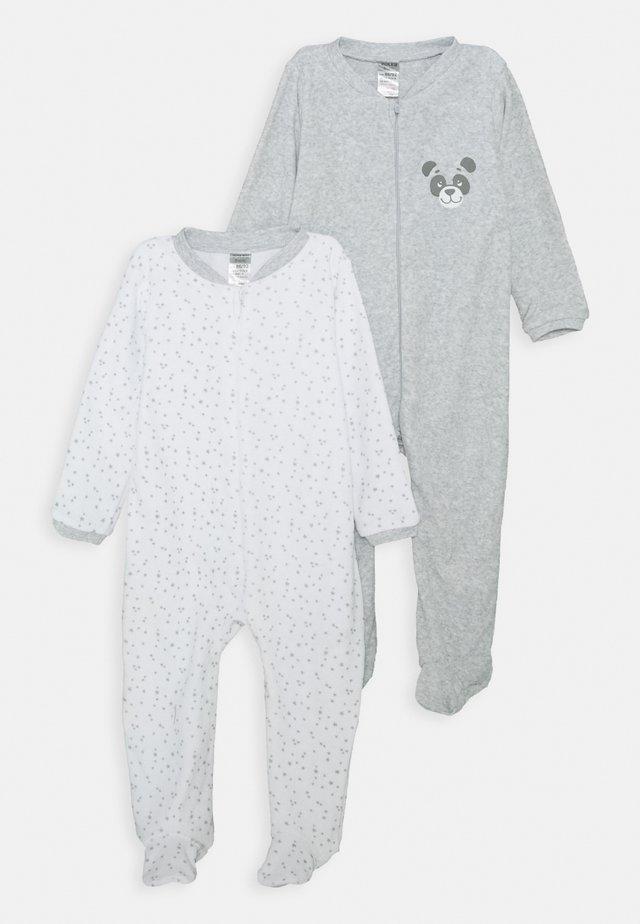 UNISEX 2 PACK - Pyjama - grey/white
