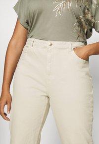 ONLY Carmakoma - CARMILY  LIFE RAW - Jeans Skinny Fit - ecru - 3