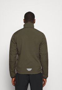 CMP - MAN JACKET ZIP HOOD - Softshell jakker - oil green/nero - 3