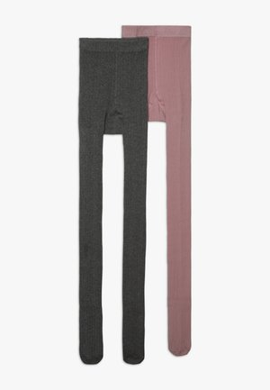 2 PACK - Tights - grau melange/wildrose